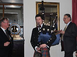 Burns Night piping in the haggis